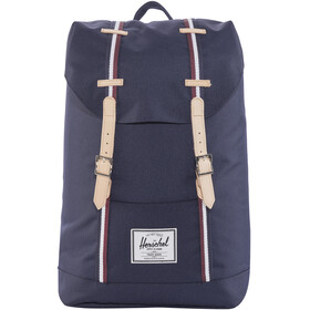 Herschel Retreat Backpack Peacoat/Windsor Wine/White